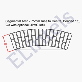 Picture of Segmental Arch - 75mm Rise Centre Double Bonded 290mm