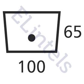 P100 100 x 70mm Lintel